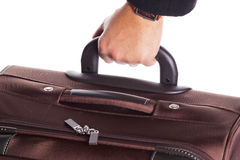 Hand and luggage Royalty Free Stock Photography