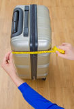Hand luggage measurement. Stock Images