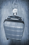 Hand luggage measurement. Royalty Free Stock Image