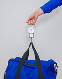 Hand luggage measurement. Stock Photography