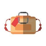 Hand luggage travel bag tourist shadow Royalty Free Stock Photo
