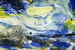 Hand målad akrylkonstbakgrund Fotografering för Bildbyråer