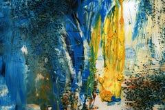 Hand målad akrylkonstbakgrund Arkivbild