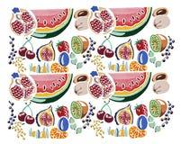 Hand målad fruktmodellillustration Royaltyfria Bilder