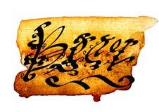 Hand målad gotisk bokstäver Arkivfoto