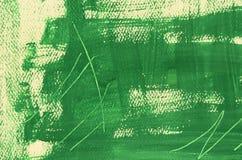 Hand målad mång--varvad grön bakgrund med skrapor Royaltyfri Bild