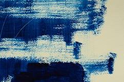 Hand målad mång--varvad marinbakgrund med skrapor Royaltyfria Bilder