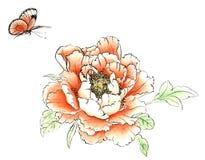 Hand målad pion Royaltyfri Bild