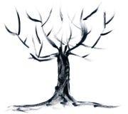 hand målad tree Royaltyfri Fotografi