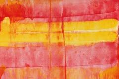 Hand målad vattenfärgkonstbakgrund Arkivbild