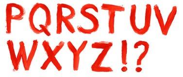 Hand målat alfabet - del 2 Arkivfoton