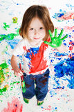 hand målningen Arkivfoton