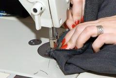 hand machine sewing Zdjęcie Stock
