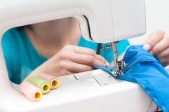 hand machine sewing zdjęcia stock