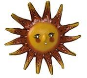 Hand machte Sun-Kunstsymbol in Handarbeit stockfotografie