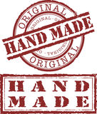 Hand made. Stamp isolated on withe Stock Images
