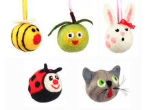 Hand made animals Stock Images