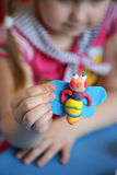 Hand-made article from plasticine Royalty Free Stock Images