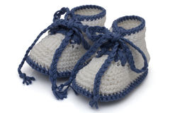Hand-made baby booties Royalty Free Stock Photography