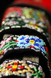 Hand-made beaded jewelry.  Stock Photo