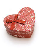 Hand-made beautiful red heart gift box Royalty Free Stock Photography