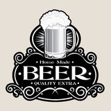 Hand Made BEER /Quality Extra Seal Royalty Free Stock Photo
