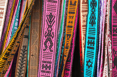 Hand-made belts with traditional Mexican ornaments Stock Image