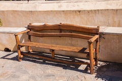 Hand made bench. In Preveli monastery, Crete, Greece Stock Image