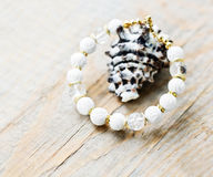 Hand-made bracelet stock photography