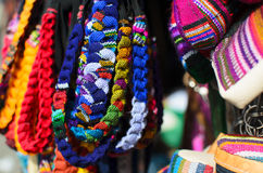 Hand-made bracelets in Guatemalan traditional style Royalty Free Stock Image