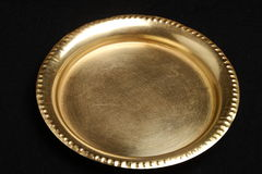 Hand made brass plate. Royalty Free Stock Image