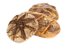 Hand made bread loaves Royalty Free Stock Photos