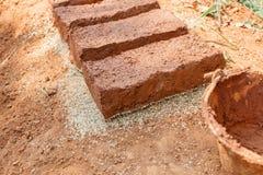 Hand-made bricks. From Thailand Royalty Free Stock Photo