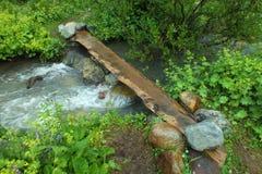 Hand made bridge in Georgia Stock Images