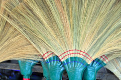 Hand made brooms at the Hoi An Market, Vietnam. Royalty Free Stock Images