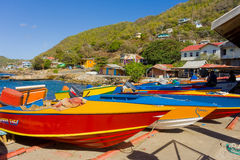 Hand-made caribbean fishing craft on bequia