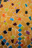 Hand made ceramic mosaic on the wall Royalty Free Stock Photos