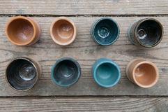 Hand made ceramic pottery products Royalty Free Stock Image