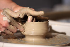 Hand made ceramics Royalty Free Stock Photo