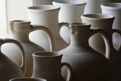 Hand-made ceramics. Stock Images