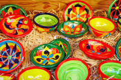 Hand made ceramics, pottery of South of France. Hand made ceramics, pottery in a shop in the Dordogne France Stock Photo