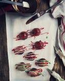 Hand made Chocolate truffle. Stock Photos