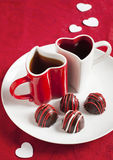 Hand made Chocolate truffle for Valentine Day Royalty Free Stock Image