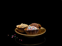 Hand made chocolate truffles, sweets, confectionery. There were Royalty Free Stock Photos