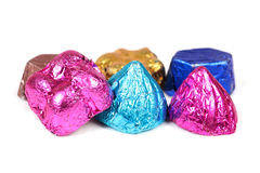 Hand-made chocolates Royalty Free Stock Photos