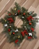 Hand made christmas decoration stock images