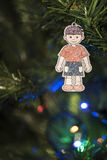 Hand made Christmas decoration on the tree Stock Images