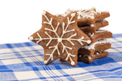 Hand-made Christmas gingerbreads Royalty Free Stock Images