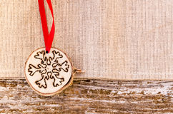 Hand-made christmas ornament decoration Stock Photography