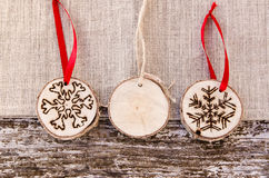 Hand-made christmas ornament decoration Royalty Free Stock Photography